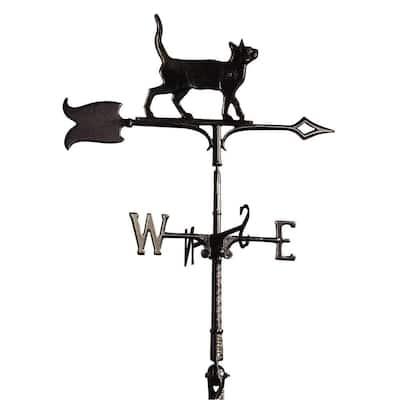 30 in. Black Standing Tiger Cat Weathervane
