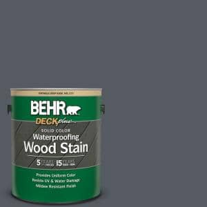 1 gal. #PPU18-2 Pencil Point Solid Color Waterproofing Exterior Wood Stain