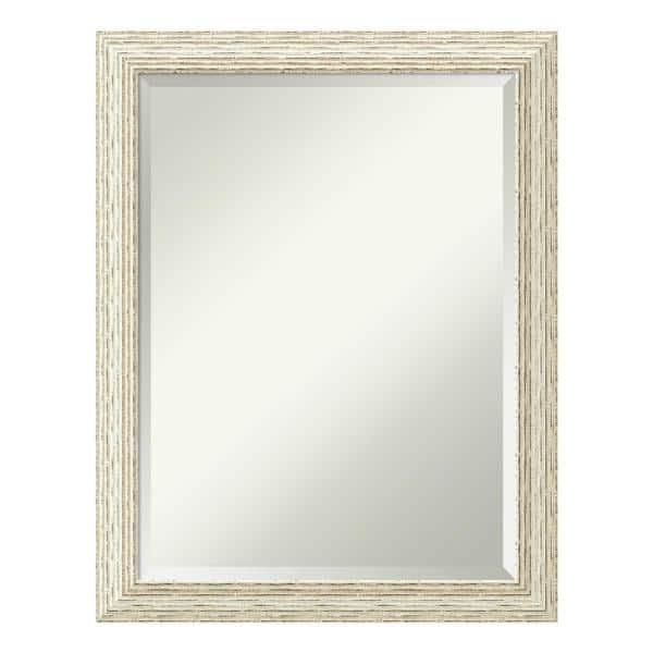 Amanti Art Medium Rectangle Whitewash Beveled Glass Casual Mirror 27 5 In H X 21 5 In W Dsw4016403 The Home Depot