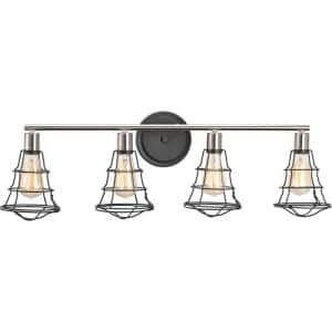Gauge Collection 4-Light Graphite Farmhouse Bath Vanity Light