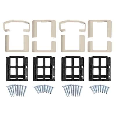 Vanderbuilt/Delray/Bellaire/Vilano Tan Straight Railing Bracket Kit (4-Piece)