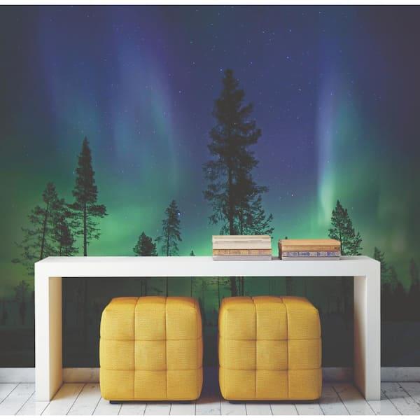 Northern Lights Aurora Sky Wall Mural Wallpaper WS-42157