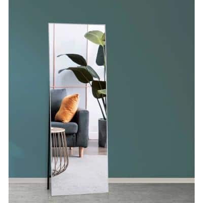 Vickers 65 in. x 22 in. Silver Modern Rectangle Aluminum Alloy Framed Full-Length Standing Mirror