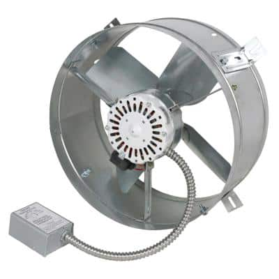 1600 CFM Mill Electric Powered Gable Mount Electric Attic Fan