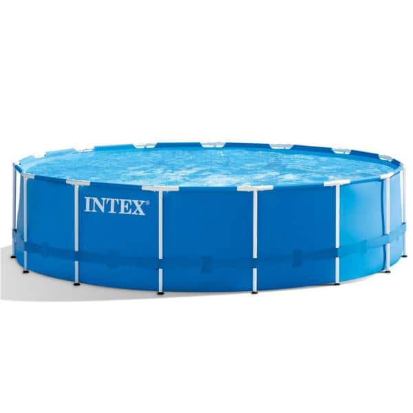 Intex 15 Ft Round X 48 In D Metal Frame Rectangle Pool Set And Cleaning Kit Plus Natural Chemistry Perfect Plus Phosfree 28241eh 28002e Nc 05131 The Home Depot