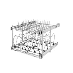 18.13 in. H x 20.75 in. W x 22 in. D Pull-Out 2-Tier Base Cookware Kitchen Cabinet Organizer