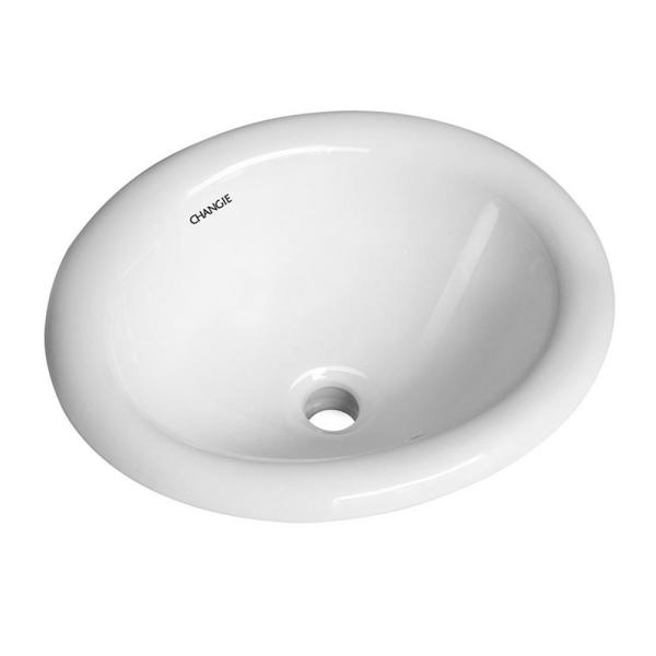Boyel Living Bathroom Top Mount Vanity Sink Porcelain Drop In Basin White 17 In X 15 In Sink Type Sink Wall Mounted Bracket Cq1004w The Home Depot