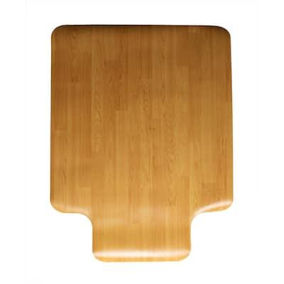 Office Chair Mat Brown 48 in x 36 in Polyethylene Anti-Skid Floor Mat
