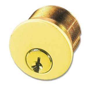 1-1/4 in. Polished Brass Mortise Cylinder