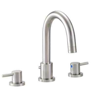 Eastport 8 in. Widespread 2-Handle Bathroom Faucet in Satin Nickel