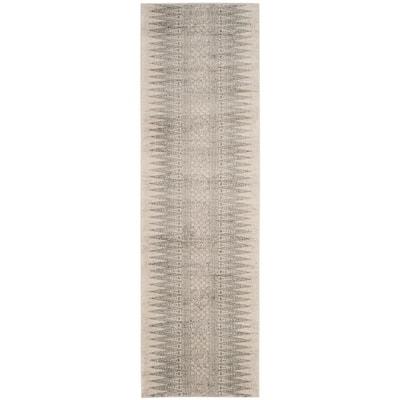 Evoke Ivory/Silver 2 ft. x 9 ft. Runner Rug