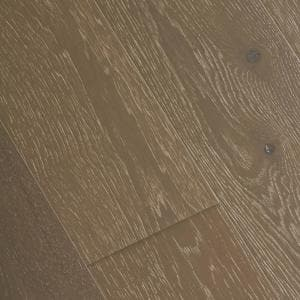 Wire Brushed Hickory Grey 3/8 in. T x 7-1/2 in. Wide x Varying Length Click Lock Hardwood Flooring(30.92 sq. ft. / case)