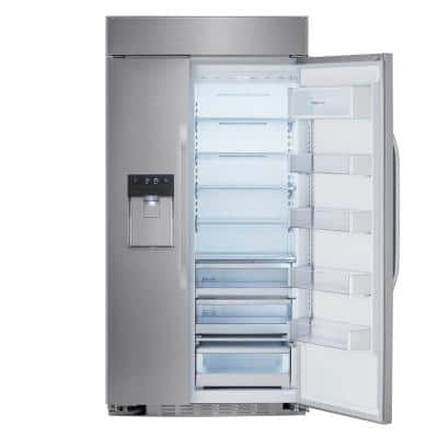 25.6 cu. ft. Ultra Large Capacity Built-in Side by Side Smart Refrigerator with Wi-Fi Enabled in Stainless Steel