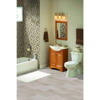 White Oak 12 in. x 24 in. Polished Limestone Floor and Wall Tile (10 sq. ft./case)