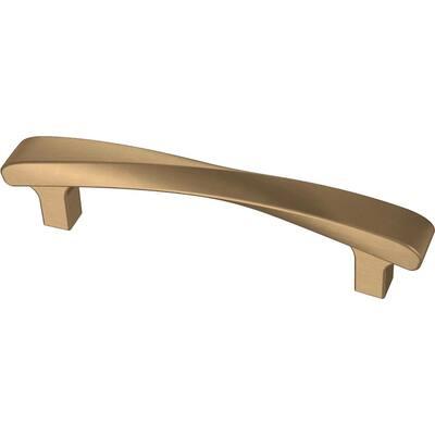 Modern Twist 3-3/4 in. (96 mm) Champagne Bronze Drawer Pull