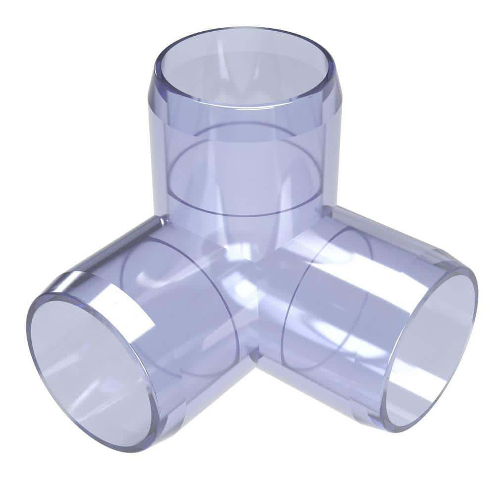 Formufit 1 1 4 In Furniture Grade Pvc 3 Way Elbow In Clear F1143we Uv The Home Depot