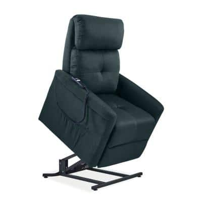 Blue Microfiber Power Recline and Lift Chair