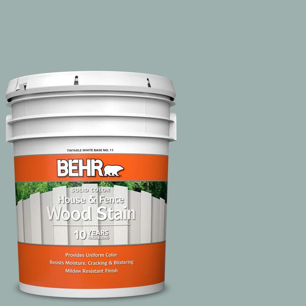 Behr 5 Gal N430 3 Garden Vista Solid Color House And Fence Exterior Wood Stain 01105 The Home Depot