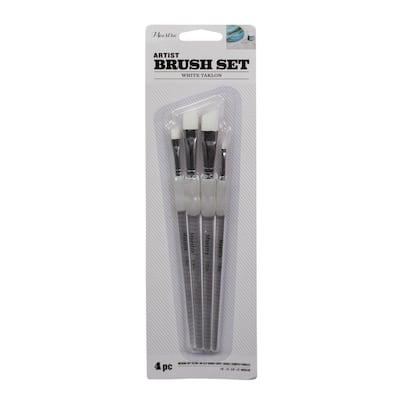 Angled Artist Paint Brush Set (4-Piece)