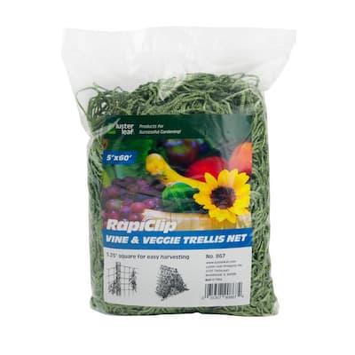 Green Vine and Veggie Trellis Net
