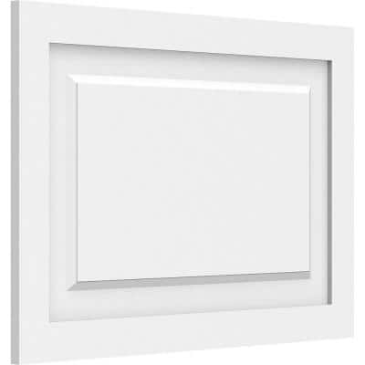 5/8 in. x 2 ft. x 1-1/2 ft. Harrison Raised Panel White PVC Decorative Wall Panel