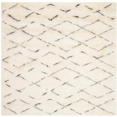Casablanca Ivory/Brown 6 ft. x 6 ft. Square Geometric Area Rug