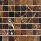 Brown Black 12 in. x 12 in. x 4 mm Glass Mosaic Tile DIY Kit (10 sq. ft./case)