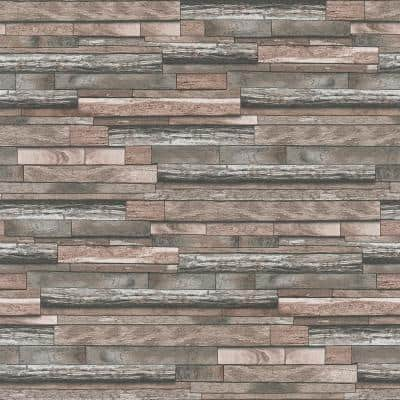 Federico Red Slate Strippable Wallpaper Covers 57.5 sq. ft.