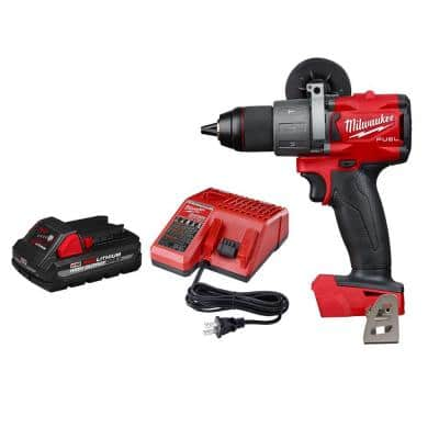 M18 FUEL 18-Volt Lithium-Ion Brushless Cordless 1/2 in. Hammer Drill / Driver W/ 3.0Ah Battery and Charger