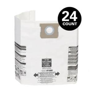 15 Gallon to 22 Gallon Dust Collection Bags for Shop-Vac Branded Wet/Dry Shop Vacuums (24-Pack)