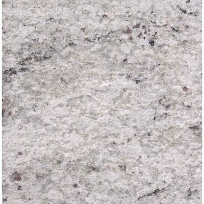 3 in. x 3 in. Granite Countertop Sample in Cotton White