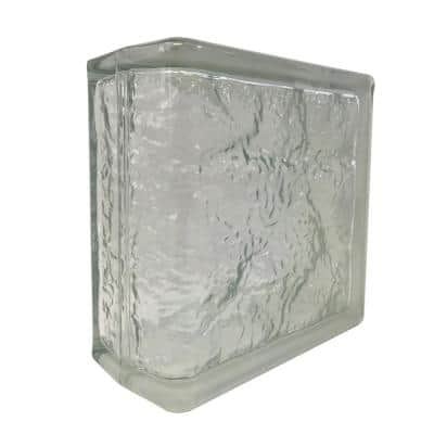 Cortina 4 in. Thick Series 8 x 8 x 4 in. End (4-Pack) Ice Pattern Glass Block (Actual 7.75 x 7.75 x 3.88 in.)