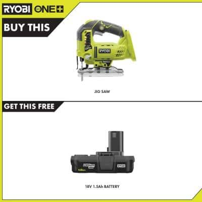 18-Volt ONE+ Cordless Orbital Jig Saw with 1.5 Ah Compact Lithium-Ion Battery