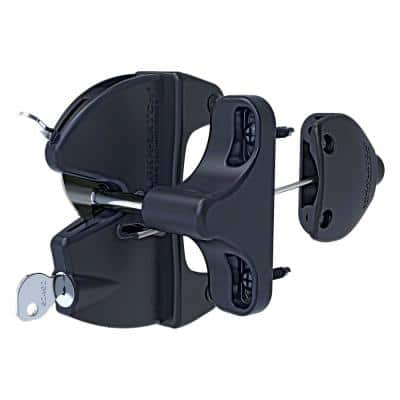 Black Polymer and Stainless Steel Two-way Magnetic Self-latching Fence Gate Latch