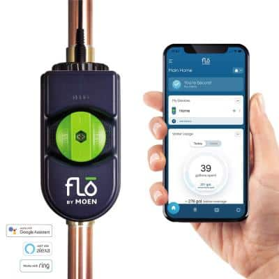 Flo 0.75 in. Water Leak Detector with Automatic Water Shut Off Valve