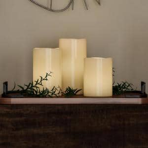 6 in. H White LED Flameless Candle (3-Pack)