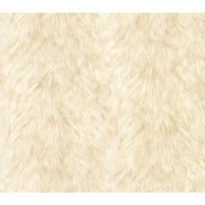 Trieste Cream Wolf Cream Wallpaper Sample