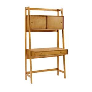 38 in. Rectangular Acorn 1 Drawer Ladder Desk with Built-In Storage