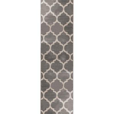 Seyward Grey 26 in. x Your Choice Length Roll Runner