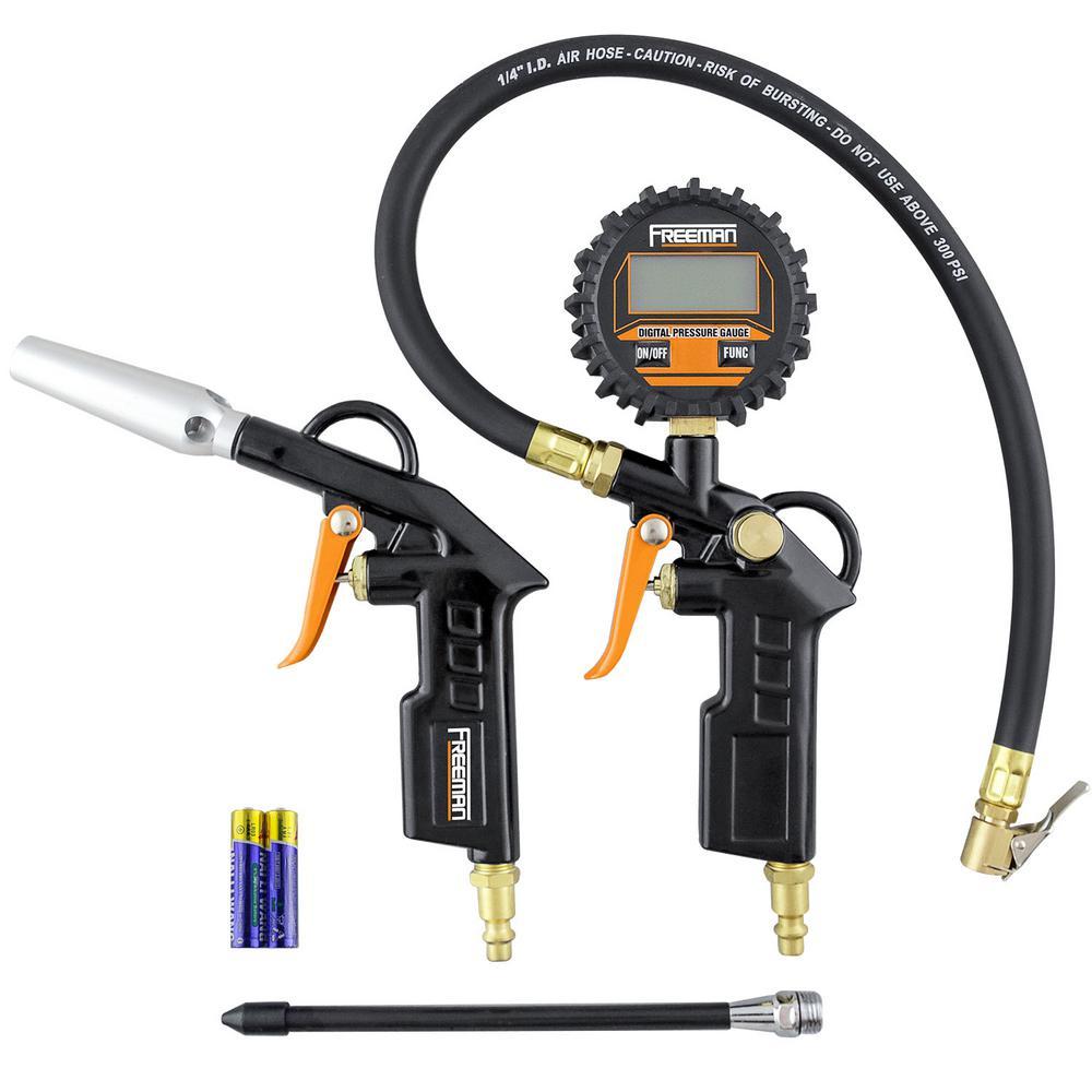 Digital Tire Inflator and High Flow Blow Gun Kit