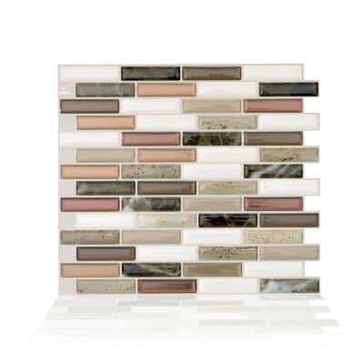 Milenza Taddio 10.20 in. W x 9.00 in. H Peel and Stick Self-Adhesive Decorative Mosaic Wall Tile Backsplash (4-Pack)
