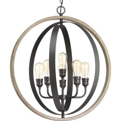 Conestee Collection 6-Light Graphite Pendant