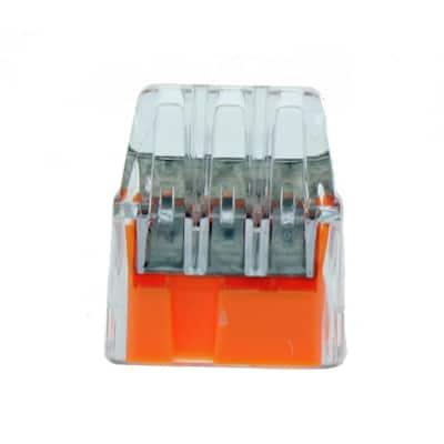 In-Sure 3-Port Push-In Connectors, Orange (250-Jar)