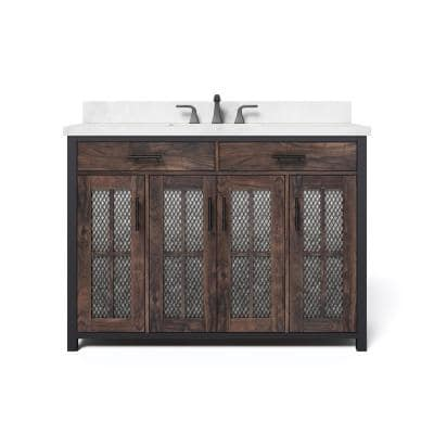 Farmhouse 48 Inch Vanities Bathroom Vanities Bath The Home Depot