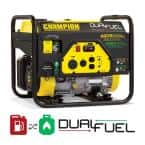4375/3500-Watt Dual Fuel Powered RV Ready Portable Generator
