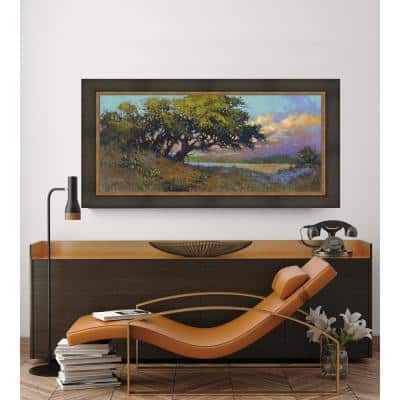 38.5 in. x 68.5 in. 'Wildflower Evening' by HC Zachary Fine Art Canvas Framed Print Wall Art