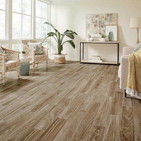 Golden Brown Glazed Porcelain Floor