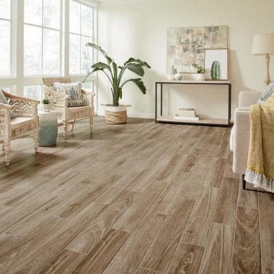 Trace Meadow 6 in. x 36 in. Golden Brown Glazed Porcelain Floor and Wall Tile (14.5 sq. ft./Case)