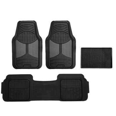 Fh Group Trimmable Heavy Duty 28 In X 18 In Rubber Floor Mats Dmf11513gray The Home Depot