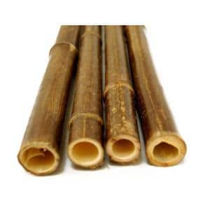 1 in. x 8 ft. Black Bamboo Poles (25-Pack/Bundled)